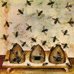 Api e alveari, Ibn Buthlan di Baghdad, Tacuinum_Sanitatis_colorato e miniato da Giovannino de Grassi, 1390-1400
