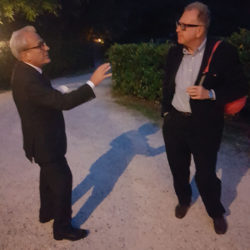 Francesco Merlo con Valerio Magrelli