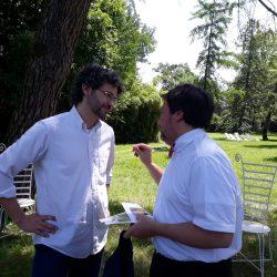 Luca Mercalli con Lamberto Monti