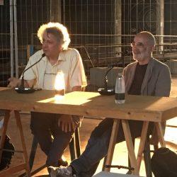 Mario Piazza e Guido Scarabottolo alla Vecchia Cantina Buton