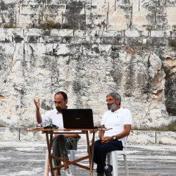 Vittorio Elia e Fabio Truc alla cava Conti