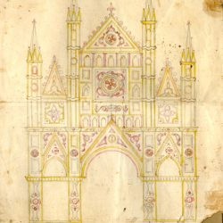 Esemplare d'epoca in mostra - Il disegno delle luminarie tradizionali